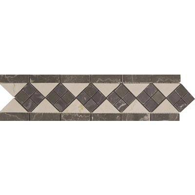 Tesoro Decorative Collection - Prima 3.5 x 12 Listello Domino Brown Marble Crema Tile & Stone