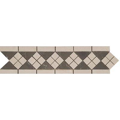 Tesoro Decorative Collection - Prima 3.5 x 12 Listello Mission Crema Brown Marble Tile & Stone