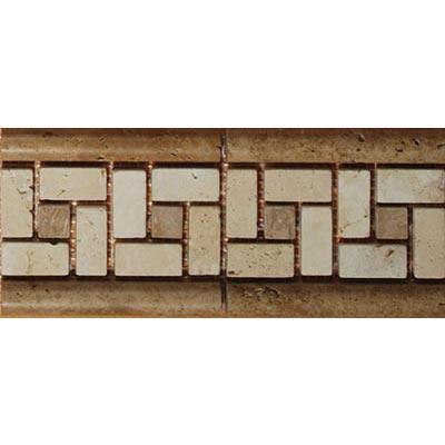 Tesoro Decorative Collection - Siras 3.5 x 8.5 Listello Noce Beige #101 Tile & Stone