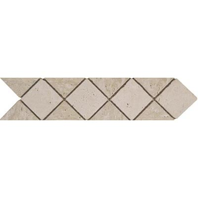 Tesoro Decorative Collection - Tuscano 3 x 12 Listello Diamond Noce Ivory Tile & Stone