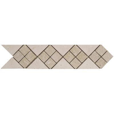 Tesoro Decorative Collection - Tuscano 3 x 12 Listello Quad Ivory Noce Tile & Stone