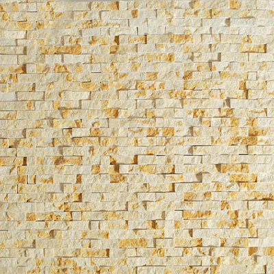 Tesoro Precious Stones Split Face Mosaic Gold Beige Tile & Stone