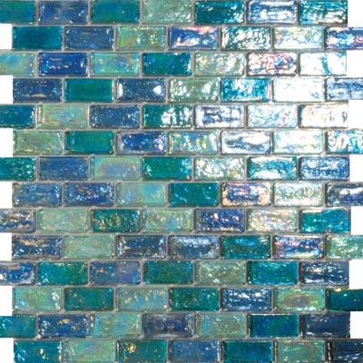 Tesoro Reflections Blends - 1 x 2 Mosaic #14 Toumaline/Excalibur/4 Tile & Stone