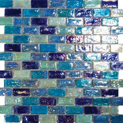 Tesoro Reflections Blends - 1 x 2 Mosaic #12 Excalibur/Provocative/Toumaline/4 Tile & Stone