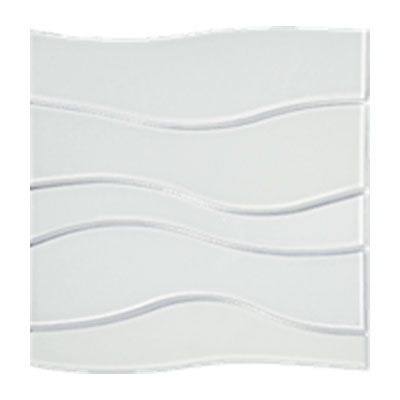 Tesoro Terra Bella Wave Mosaic White Wave Tile & Stone