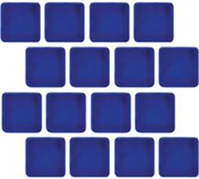 Tesoro Harmony 1 x 1 Mosaic Electric Blue Tile & Stone