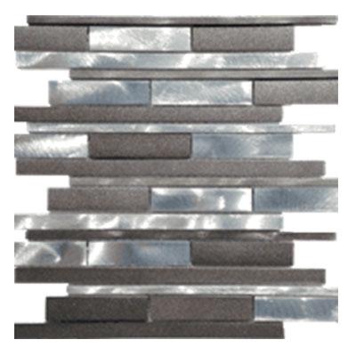 Tesoro Metallica Mosaic #4 Brick Pattern Tile & Stone