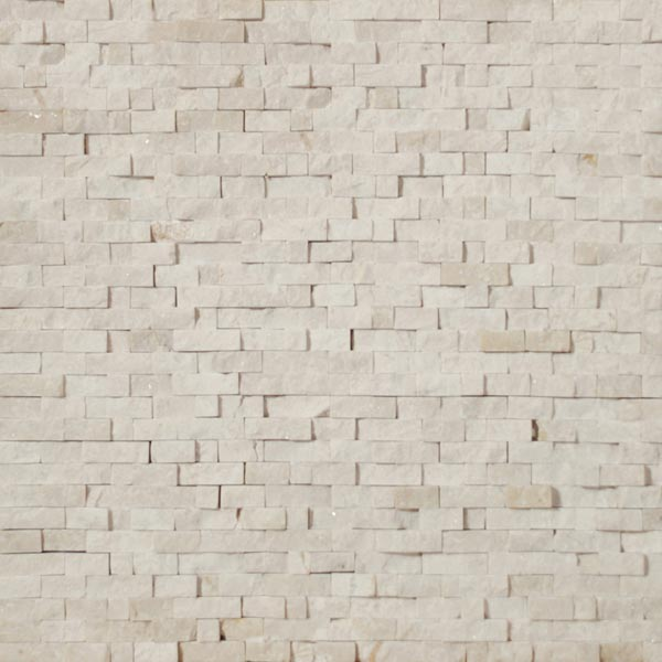 Tesoro Pietra Antica Select Polished Travertine Mosaics Creama Marfil Split Face Mosaic Tile & Stone