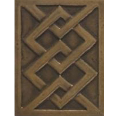 Tesoro Decorative Collection - Inserts 3 x 4 Modern Bronze Insert Tile & Stone