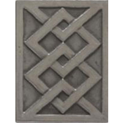 Tesoro Decorative Collection - Inserts 3 x 4 Modern Nickle Insert Tile & Stone