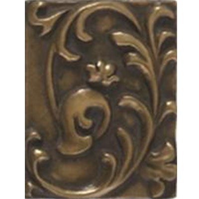 Tesoro Decorative Collection - Inserts 3 x 4 Renaissance Bronze Insert Tile & Stone