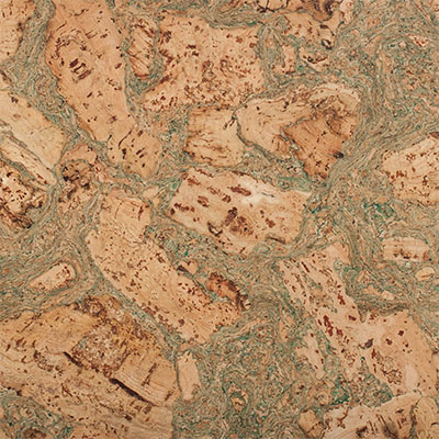 Carolina Cork Qu Cork 12 x 36 Natural Burl With Green Cork Flooring