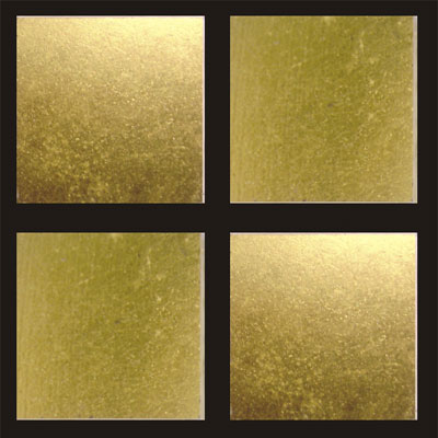 RG North America LLC RG Gold Series 3/4 x 3/4 24K Gold Leaf Flat Tile & Stone