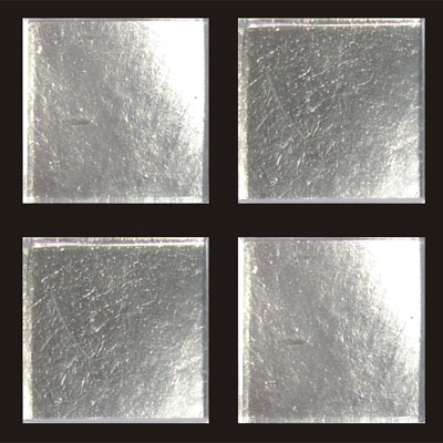 RG North America LLC RG Gold Series 3/4 x 3/4 24K White Gold Leaf Flat Tile & Stone