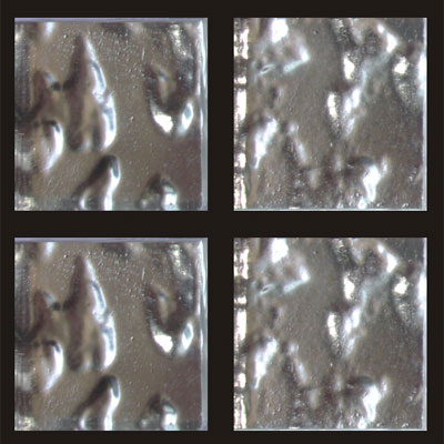 RG North America LLC RG Gold Series 3/4 x 3/4 24K White Gold Leaf Wavy Tile & Stone