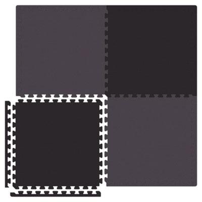Alessco, Inc. Economy Reversible Soft Floors Grey / Black Rubber Flooring