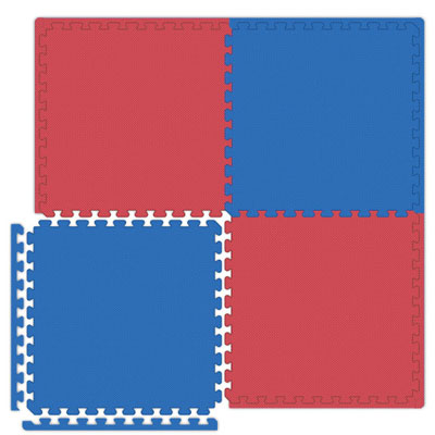 Alessco, Inc. Economy Reversible Soft Floors Red / Royal Blue Rubber Flooring