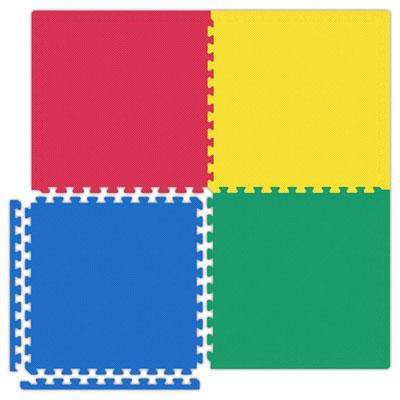 Alessco, Inc. Economy Reversible Soft Floors RYBG / Black Rubber Flooring