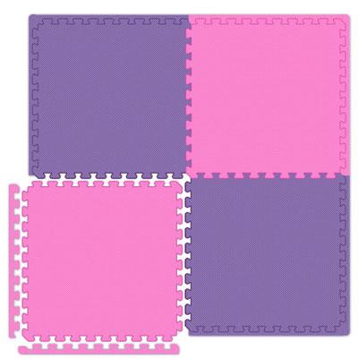 Alessco, Inc. Economy Reversible Soft Floors Pink / Purple Rubber Flooring