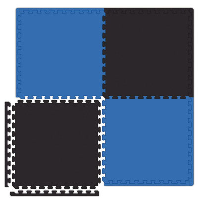Alessco, Inc. Economy Reversible Soft Floors Royal Blue / Black Rubber Flooring