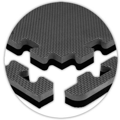 Alessco, Inc. Jumbo Reversible Grey Black Reversible Rubber Flooring