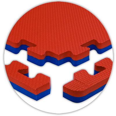 Alessco, Inc. Jumbo Reversible Red Royal Blue Reversible Rubber Flooring
