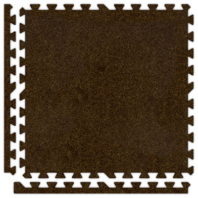 Alessco, Inc. Soft Carpets Brown Inside Rubber Flooring