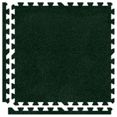 Alessco, Inc. Soft Carpets Emerald Green Inside Rubber Flooring