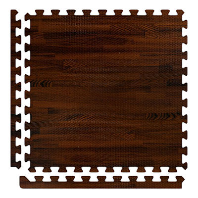 Alessco, Inc. Soft Woods with Corner/Border Cherry Rubber Flooring