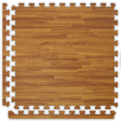 Alessco, Inc. Soft Woods with Corner/Border Dark Oak Inside Rubber Flooring
