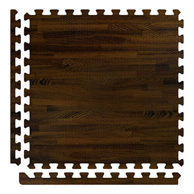 Alessco, Inc. Soft Woods with Corner/Border Walnut Rubber Flooring