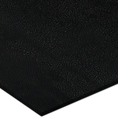 Mannington ColorScrape 18 x 18 Sculptured Night Black (Sample) Rubber Flooring