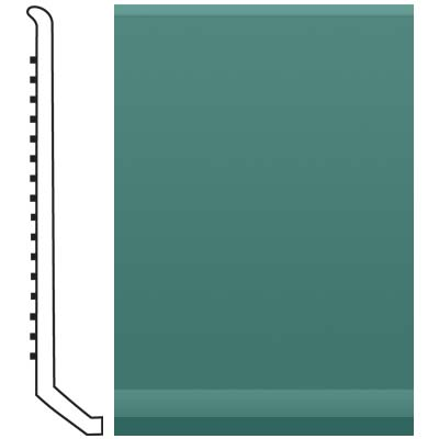 Roppe Pinnacle Rubber Butt Toe Base 4 Forest Green Rubber Flooring