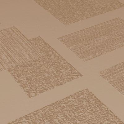 Roppe Dimensions Tile - Random Design Buckskin Rubber Flooring