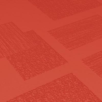 Roppe Dimensions Tile - Random Design Tangerine Rubber Flooring