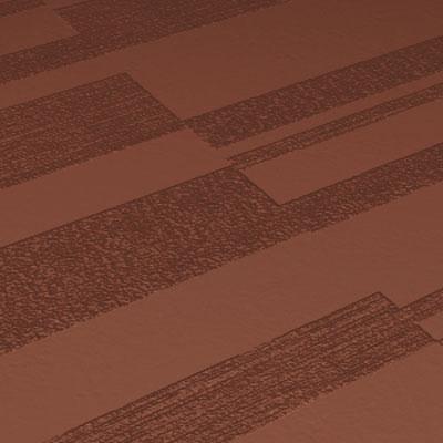Roppe Dimensions Tile - Stripe Design Nutmeg Rubber Flooring