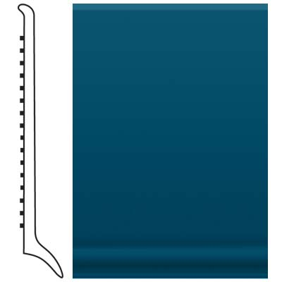 Roppe Pinnacle Rubber Long Toe Base 4 Blue Rubber Flooring