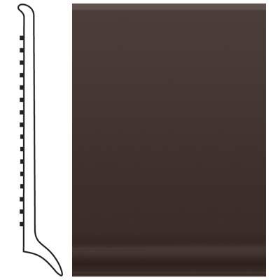 Roppe Pinnacle Rubber Long Toe Base 4 Brown Rubber Flooring