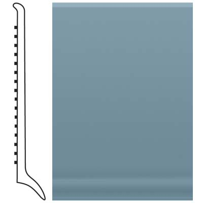 Roppe Pinnacle Rubber Long Toe Base 4 Colonial Blue Rubber Flooring