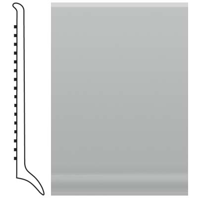 Roppe Pinnacle Rubber Long Toe Base 4 Light Gray Rubber Flooring