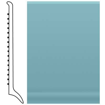 Roppe Pinnacle Rubber Long Toe Base 4 Turquoise Rubber Flooring