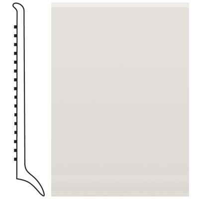 Roppe Pinnacle Rubber Long Toe Base 4 White Rubber Flooring