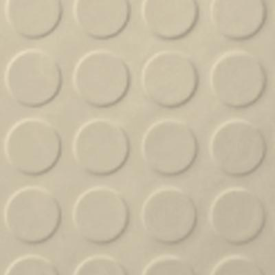 Roppe Rubber Tile 900 - Low Profile Raised Circular Design (992) Almond Rubber Flooring