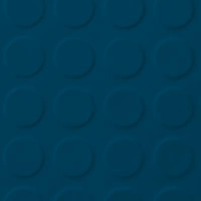 Roppe Rubber Tile 900 - Low Profile Raised Circular Design (992) Blue Rubber Flooring
