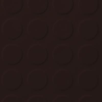 Roppe Rubber Tile 900 - Low Profile Raised Circular Design (992) Brown Rubber Flooring