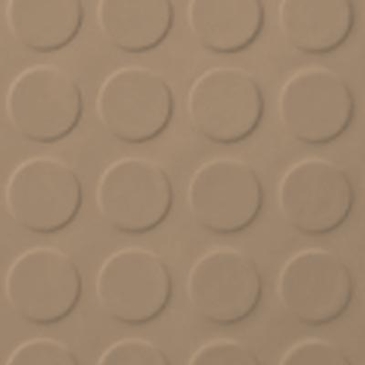 Roppe Rubber Tile 900 - Low Profile Raised Circular Design (992) Buckskin Rubber Flooring