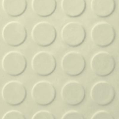 Roppe Performance Compound - Low Profile Raised Circular Design Cream Rubber Flooring
