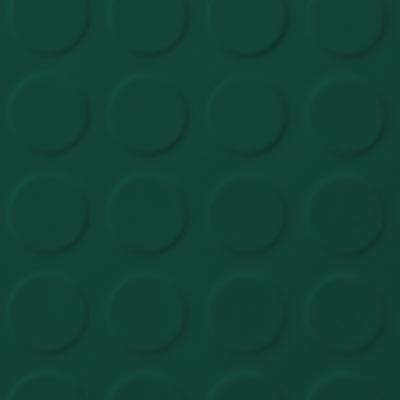 Roppe Rubber Tile 900 - Low Profile Raised Circular Design (992) Forest Green Rubber Flooring