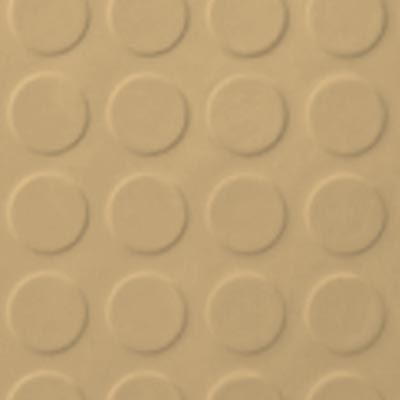 Roppe Rubber Tile 900 - Low Profile Raised Circular Design (992) Harvest Yellow Rubber Flooring