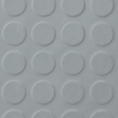 Roppe Rubber Tile 900 - Low Profile Raised Circular Design (992) Platinum Rubber Flooring